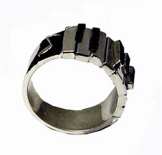 Piano / Keyboard Ring! Sterling Silver