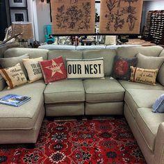 Sectional U shaped sofa