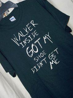 For The Walking Dead Fan...Carl's Message on the Door: WALKER INSIDE GOT MY SHOE DIDNT GET ME!