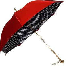 Pasotti Red Double Canopy Polka Dot Umbrella