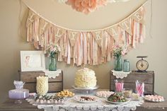 Shabby Chic Girl Vintage Birthday Party Planning Ideas by jachehrs Shabby Chic 1st Birthday Party, Vintage Birthday Parties, Baby Birthday, First Birthday Parties, First Birthdays, Birthday Ideas, Birthday Decorations, Rustic Birthday, Horse Birthday