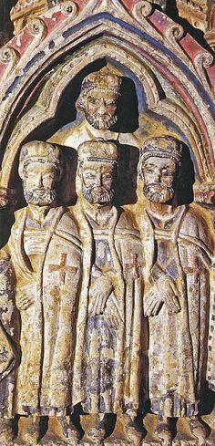 église templière de Santa Maria Blanca, Espagne -Templiers sur la tombe de Doña Leonor Ruiz de Castro y Pimental,