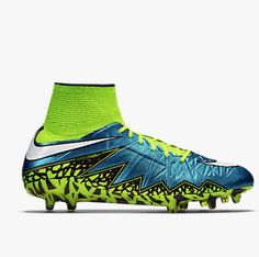 Another cleat worn by some of the U.S. Women's National Team when they won the world cup in 2015 is Nike's Hypervenom Phantom II FG. It's a firm ground cleat.