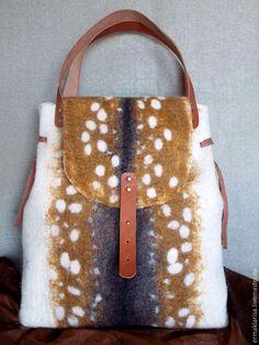 Купить Сумка валяная Сафари - звериная расцветка, валяная сумка, сумка валяная, сумка, валяная