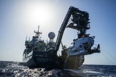 The research team, hailing from N.C. State University, Woods Hole Oceanographic Institution (WHOI) and the University of Oregon, discovered the shipwreck while aboard the research vessel Atlantis (shown here with the submersible Alvin hanging off its stern). The expedition is slated to end July 28.