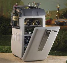 portable bar fridge on wheels
