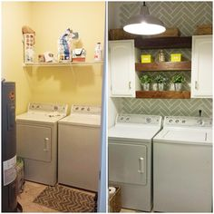 Small Laundry Room Solutions :: 2 Bees in a Pod - Vicki and Jennifer's clipboard on Hometalk | Hometalk