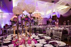 Jafar and Najah, Arabic Wedding, Signature Grand, Indian Wedding, Suhaag Garden, round mandap, Florida wedding decorator, wedding reception, chandelier, candelabra, crystals, centerpieces, ceiling drapes