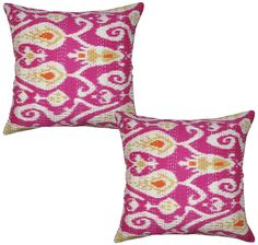 Indian Decorative Pillow Case Covers Cotton Print Cushion Cover Pair 40cm Throw