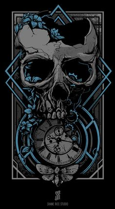 Illustration for apparel by Shane Rice Studio Skull Wallpaper, Dark Wallpaper, Illustration Vector, Graphic Design Illustration, Dark Fantasy Art, Dark Art, Arte Obscura, Skull Artwork, Skeleton Art