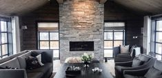 Minera | Galleri Mountain Cottage, Brick Design, Living Room Inspiration, Picture Design, My Dream Home, Future House, House Ideas, Cabin Ideas, Sweet Home