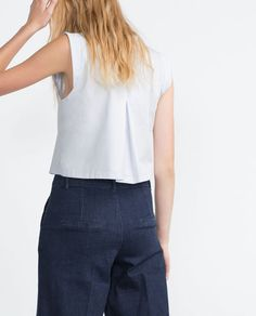 Image 1 of TOP WITH BACK PLEAT from Zara