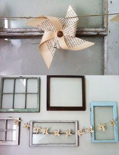 Diy Projects: Vintage Paper Pinwheel Banner
