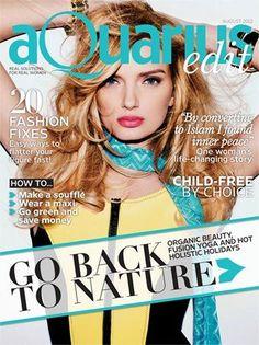 Lily Donaldson - Aquarius Magazine Cover [United Arab Emirates] (August 2012)