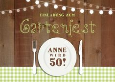 Gartengeburtstag Invitation card for the garden birthday with trendy country look with checks, lante Garden Party Invitations, Birthday Invitations, The Moon Today, Craters On The Moon, Honeymoon Hotels, Oktoberfest Party, Garden Birthday, Amazing Gardens, Invitation Cards