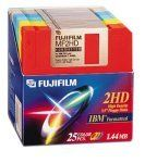 Fujifilm 3.5in. High Density Floppy Disk - IBM Formatted (25-Pack, Assorted Colors) by Fuji. $24.95. From the Manufacturer                Fujifilm's double-sided, high-density 2 MB floppy disks are the ones to choose for safe data storage. All Fujifilm floppy disk manufacturing plants worldwide have been awarded ISO-9002 certification, your assurance of stringent quality control at every step of the production process. In addition, all Fujifilm floppy disks have ...