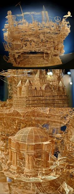 toothpick art | Spectacular Toothpick Art - Image