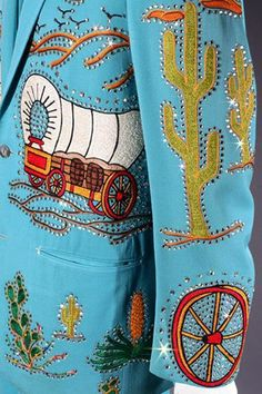 A detail of Bob Hope's jacket, made by Nudie Cohyn
