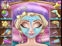 Frozen Disney Elsa Frozen Elsa real cosmetics videos games for kids - YouTube