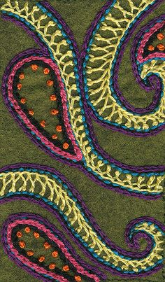 Crested Chain Stitch Sampler