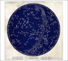 Astrological Chart Framed Print | Pottery Barn