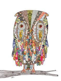 'i can see in the dark' owl  by Bianca Green
