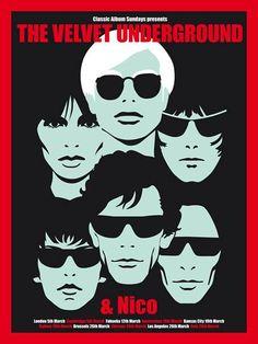 Velvet Underground Poster Release From Flood Gallery by Carl Glover
