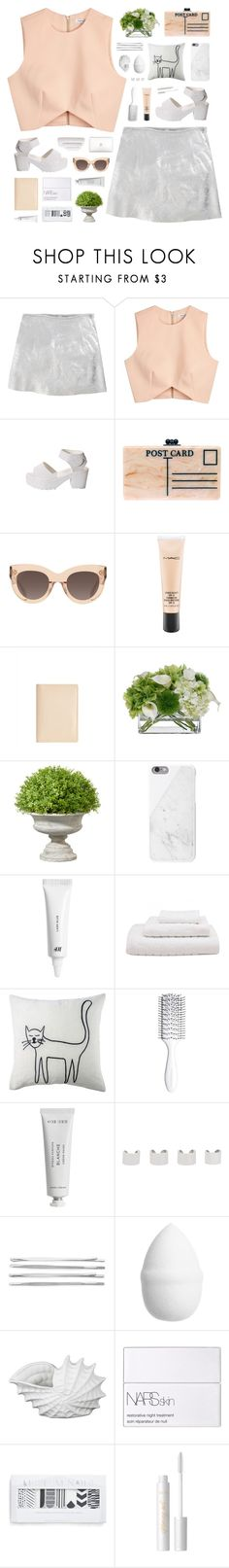 """""""Nature engenders the science of painting."""" by novalikarida ❤ liked on Polyvore featuring R13, Finders Keepers, Edie Parker, CÉLINE, MAC Cosmetics, Jaeger, Diane James, OKA, Native Union and H&M"""