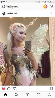 Unicorn-fairy cosplay by Maria Amanda Fairy Costume Diy, Fairy Cosplay, Fairy Halloween Costumes, Diy Costumes, Halloween Cosplay, Halloween Makeup, Woodland Fairy Costume, Elf Costume, Water Fairy Costume