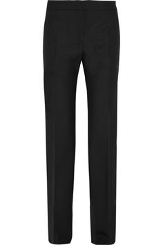 Black twill and velvet  Concealed hook, button and zip fastening at front 44% polyester, 37% wool, 14% cotton, 5% modal; lining: 100% viscose Dry clean Made in Italy