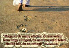 Maga az Úr megy előtted... Biblical Quotes, Beach Mat, Outdoor Blanket, Marvel, Christian, Urban, Pictures, Trust, Thoughts