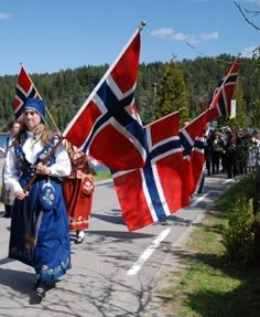 Norwegian Constitution Day parade - May 17th.  Hurrah for Syttende Mai!