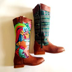 One of our most unique and favorite pairs of riding boots! #teysha #customboots #handmade #guatemala