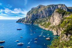 Capri island in a beautiful summer day in Italy