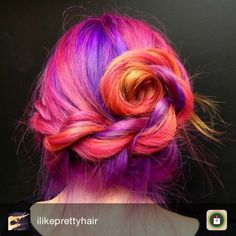 Pink purple dyed bun hairstyle dyed hair & pastel hair цветные волосы и Brunette Ombre, Brunette Hair, Ombre Hair, Curling, Dyed Hair Pastel, Pastel Pink, Pixie, Purple Dye, Purple Hair