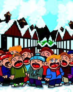 "Free children's Christmas play ""The Christmas Carol War"". 7SistersHomeschool.com"