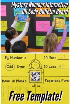 FREE Mystery Number Interactive QR Code Bulletin Board Template