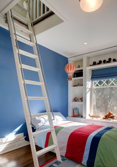 Ladder up to an attic retreat space