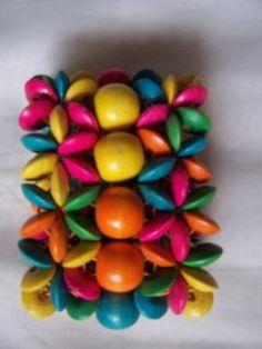 ON SALE vintage fruit colors wide bracelet