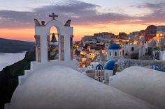 "White Churches of Oia Village at Sunset - Follow me on <a href=""https://www.facebook.com/ansharphoto"">Facebook</a> | <a href=""https://instagram.com/ansharphoto"">Instagram</a> | <a href=""https://twitter.com/anshar"">Twitter</a> | <a href=""https://plus.google.com/+Ansharphotography/posts"">Google+</a> | <a href=""http://blog.ansharphoto.com"">Blog</a>!  White Churches of Oia Village at Sunset, Santorini, Greece"