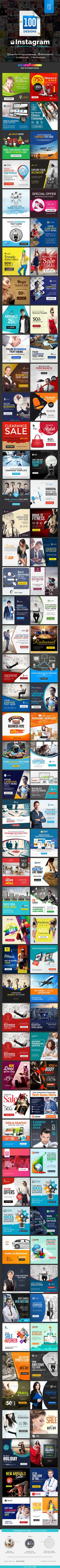 Instagram banner Ad Template Design 100 Banners - Banners & Ads Web Template PSD. Download here: http://graphicriver.net/item/instagram-ad-templates-100-banners/16516789?s_rank=384&ref=yinkira