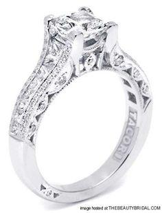 Princess Cut Diamond Engagement Rings    2.5-carat princess-cut diamond ring set in platinum by Tacori (www.tacori.com)  Details    cut: Princess   Designer: Tacori   gem: Diamond   jewelry for: her   Jewelry Type: engagement rings   metal: Platinum   Wedding Style: glamorous