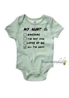 Aunt Baby Onesie by sugarmoonkids on Etsy, $18.00