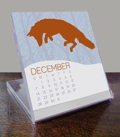 2014 desk calendar / animal calendar / flora and fauna / by Modern Printed Matter