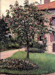 Gustave Caillebotte (1848-1894)  Petit Gennevilliers, Facade, Southeast of the Artist's Studio, Overlooking the Garden, Spring. n/d. Oil on canvas.
