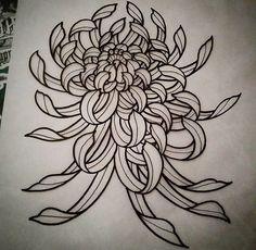 . Black Ink Tattoos, Mini Tattoos, New Tattoos, Tattoos For Guys, Tatoos, Flower Tattoo Designs, Flower Tattoos, Crisantemo Tattoo, Mangas Tattoo