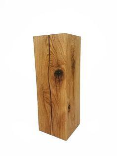 Pflanzsäule Eiche Massivholz 17x17x50cm handarbeit aus Deutschland Holzsäule Holzstele Stele #heimgruen