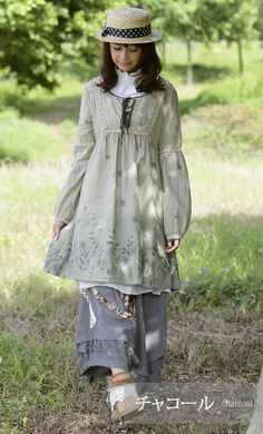 I'm looking to find/replicate the smock, though. Girl Outfits, Cute Outfits, Fashion Outfits, Grunge Outfits, Japanese Fashion, Asian Fashion, Mode Mori, Forest Fashion, Mori Girl Fashion