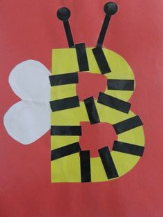 Letter B- Bee! Animals or shapes to make letters, making it more interesting!