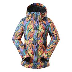 Gsou Snow Colorful High Waterproof Windproof Thermal Colorful Women s Ski  Jackets Front Snowboarding Outfit 367a55b50
